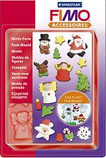 FIMO SCULPEY Argilla Spingere Stampi natalizi per modellazione di gioielli artigianali art divertente 06