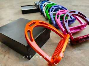 STIRRUPS HORSE RIDING EQUESTRIAN LIGHT WEIGHT NEW COLOURS AVAILABLE & FREE POST