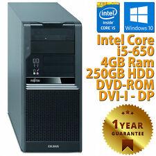 PC COMPUTER DESKTOP RICONDIZIONATO FUJITSU W380 i5-650 RAM 4GB HDD 250GB WIN 10
