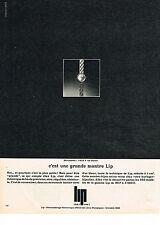 PUBLICITE ADVERTISING  1967   LIP   montre BERNADETTE