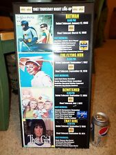 Vintage Poster, ABC Studios 1967 Line Up, BATMAN/Bewitched/ That Girl/Flying Nun