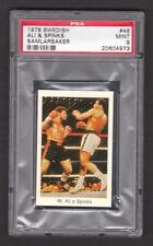 Muhammad Ali & Leon Spinks 1978 Swedish Boxing Card #46 PSA 9 MINT