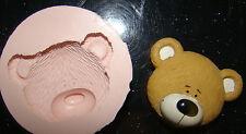 Moule Silicone ourson tête Baptême cupcake gâteau résine fimo argile polymère