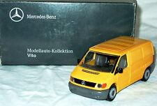 NZG 421: mercedes-Benz Vito en amarillo, modelo de metal en 1/43, nuevo con embalaje original