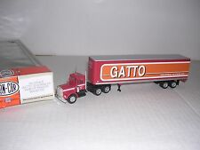 "CON-COR #1102  Kenworth 10 Wheel Cab w/45' Box Trailor ""Gatto"" Built-up H.O.Ga."