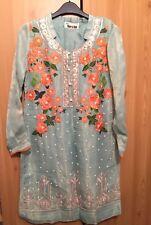 Debenhams mint green beaded floral kaftan Shirtdress NEW Size Small Kurta