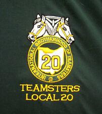 INTERNATIONAL BROTHERHOOD OF TEAMSTERS green pull-over jacket XL labor union
