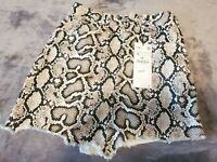Zara Snake Print mini skirt, new/unused, small size.