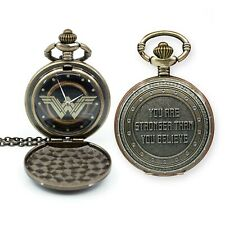Wonder Woman You Are Stronger Pendant Watch Silver