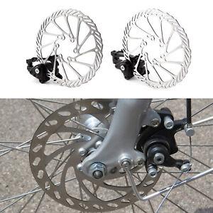 Fahrrad MTB Scheibenbremse Umbausatz 160mm Scheibe mit Bremse Set Vorne Hinten