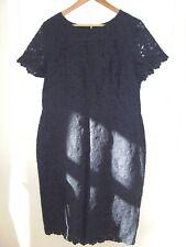 BNWT LADIES DARK BLUE/Navy smart short sleeve DRESS by TALL BY NEXT. Size 18 uk.