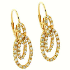 0.70Ctw 68pcs Round Diamond Ladies LeverBack Earrings 14K Yellow Gold