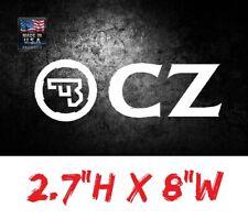 CZ Firearms -Hunting/Shooting/Outdoor Sports- Vinyl Die-Cut Peel N' Stick Decals