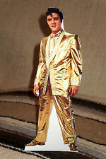 "Elvis Presley In Gold Lame Suit Tabletop Standee 10 3/4"" Tall"