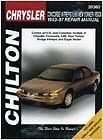 Chilton Repair Manual Chrysler LHS, Concorde, 300M & Dodge Intrepid, 1998-04