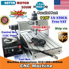 Us3 Axis 500w 3040z Dq Desktop Cnc Router Engraving Milling Machine Kit 110v