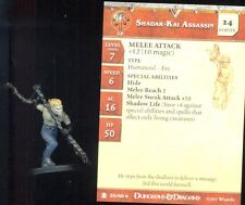 WOTC D&D MINIATURES DESERT OF DESOLATION 35 UNCOMMON SHADAR-KAI ASSASSIN