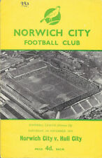 Norwich City Home Teams Written - on Football Programmes