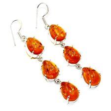 """Jewelry Earring 3"""" Jw56C Baltic Amber Gemstone Handmade"""