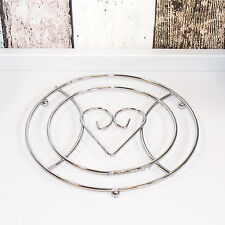 Heart Metal Wire Trivet Kitchen Worktop Surface Protector Hot Pan Kettle Stand