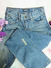 Guess Womens Trouser Pants Solid SnapZipper Closure M
