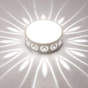 Round 5W LED Ceiling Light Fixture Acrylic Lamp Flush Mounted Corridor Bedroom