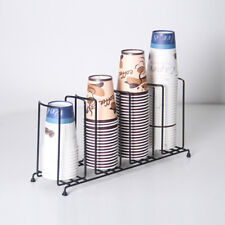 100mm Coffee Cup & Lid Sleeve Dispenser Cup Holder 4 Stacks for Restaurant