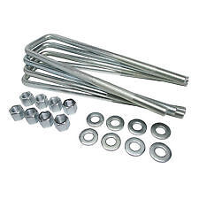 "5/8"" X 3 1/8"" X 14 Universal Square U-Bolt Kit/4  Ford/Chevy/Dodge"