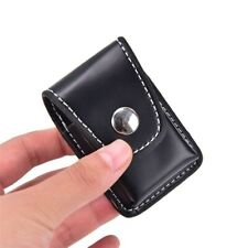 PU Leather Windproof Pouch Case Holder Cigarette Lighter Box With Belt Loop