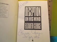 Elizabeth George DECEPTION ON HIS MIND SIGNED Amer 1ST edition hc Bantam 1997
