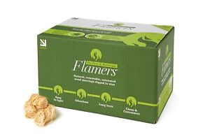 Flamers Natural Wood Wool Firelighters 200 Value Pack Log Burner Stove Fires BBQ