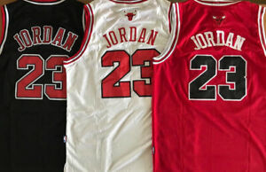 Men's/Youth #23 Michael Jordan Chicago Bulls Red/Black/White Stitched Jersey