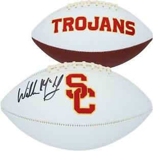 Willie McGinest USC Trojans Autographed White Panel Football