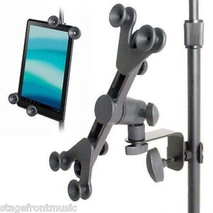 iPAD / TABLET HOLDER ADJUSTABLE UNIVERSAL  FOR MIC & MUSIC STANDS - AP24