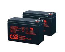 (2) CSB HR1234W High Rate 12V 34W SLA Battery w/F2 Terminals Brand New 2018