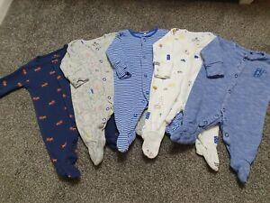 Baby Boy Next Sleepsuit Bundle Newborn First Size 🐢