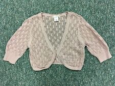 OLD NAVY Pink & Gold Tiny Fit Knit Shrug Women's Size M (WORN ONCE)