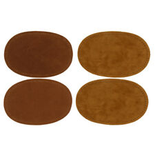 2 Pairs Suede Sew on Elbow Knee Patch DIY Repair Appliques Decor Brown/Camel