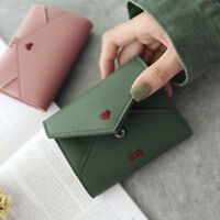 Popular Embroidery Women PU Leather Short Wallet Female Coin Purse Card Holder