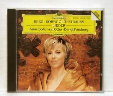 ANNE-SOPHIE VON OTTER - BERG, KORNGOLD, STRAUSS lieder DGG CD NM