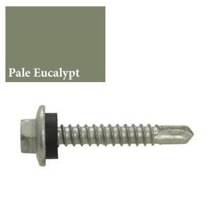 PALE EUCALYPT MIST GREEN Hex NEO 10g-16 x 16mm Metal Tek Screw Colorbond