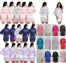 Personalized Wedding Robe Bridesmaid Bride Mother Dressing Gown Satin Silk New