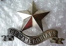 VINTAGE Cameronians (Scottish Rifles) Pipers Badge WM 2 Lug Super ANTIQUE Org