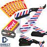 Professional American Flag Straight Folding Knife Barber Hair Shaving Razor Kit