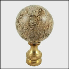 Genuine Fossil Stone Sphere Electric Lighting Lamp Shade Finial (New)