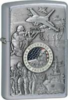 Zippo Lighter Joined Forces Emblem Windproof USA New 24457
