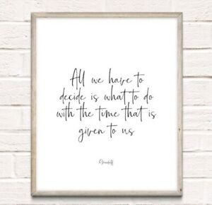 Gandalf Lord Of The Rings Typography Print Poster Unframed Quote Home Film
