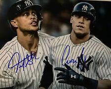Aaron Judge Giancarlo Stanton Signed NY Yankees 8x10 Photo COA
