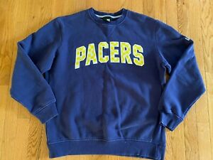 VTG Indiana Pacers New Era Crewneck Sweatshirt Blue City Edition Sz XL NBA