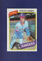 Steve Comer 1980 TOPPS Baseball #144 (NM+) Texas Rangers